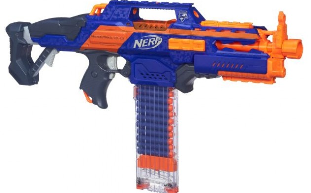 Santa has big guns in his sack, NERF guns!